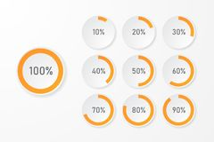 Infographic pie chart templates royalty free stock image