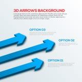 Infographic pijlen 3D achtergrond, stock illustratie