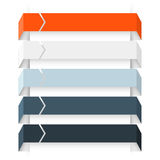 Infographic pijlen, diagram, grafiek, presentatie, grafiek Bedrijfsconcept met 5 opties, delen, stappen, processen Royalty-vrije Stock Afbeeldingen
