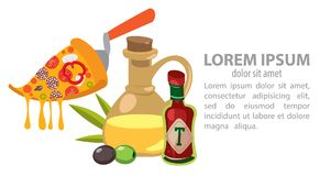 Infographic pizza. Food, Italy kitchen Vector illustration royalty free illustration