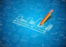 Infographic-Plan für SEO Concept-Hintergrund Stockfoto