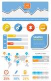 Infographic plat de kit simple d'Ui Images stock