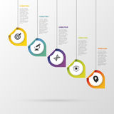 Infographic with pointers on the grey background. Vector illustration Stock Photography