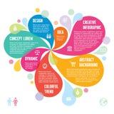 Infographic pojęcie Creati - Abstrakcjonistyczny tło - Obrazy Royalty Free