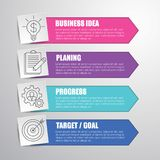 Infographic pojęcia szablonu ilustracja dla twój prezentacja projekta Zdjęcia Stock