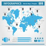 Infographic. population of people. Royalty Free Stock Images