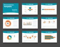 Предпосылки дизайна шаблона Infographic PowerPoint Комплект шаблона представления дела Стоковая Фотография RF