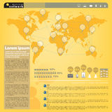 Infographic present relationship network in the world Royalty Free Stock Image