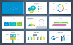 Infographic presentation elements and vector template brochures Stock Photos