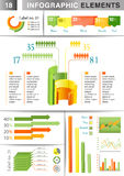 INFOGRAPHIC presentation template graph pie Stock Photography