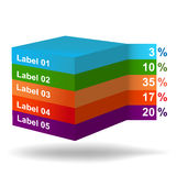 INFOGRAPHIC presentation template graph pie Stock Images