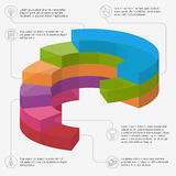 Infographic presentation template. Isometric 3d business vector infographic presentation template Royalty Free Stock Photos