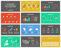 Infographic presentationsvektormall som kan användas till mycket Fotografering för Bildbyråer