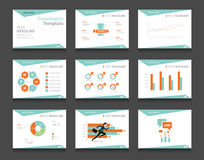 Infographic prezentaci szablonu biznesowy set powerpoint szablonu projekta tła Obraz Stock