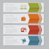 Infographic Progetti il grafico del modello delle insegne di numero o la disposizione del sito Web Fotografia Stock Libera da Diritti