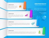 infographic projektów elementy Kroczy opcja sztandary również zwrócić corel ilustracji wektora Obrazy Stock