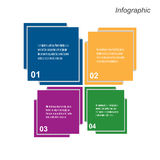 Infographic projekt dla produktu rankingu Obrazy Stock