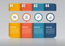 Infographic projekt i marketingowe ikony możemy używać dla obieg układu, diagram, sprawozdanie roczne, sieć projekt Biznesowy con Zdjęcie Stock