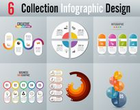 Infographic projekt i marketingowe ikony możemy używać dla obieg układu, diagram, sprawozdanie roczne, sieć projekt Biznesowy con Fotografia Stock
