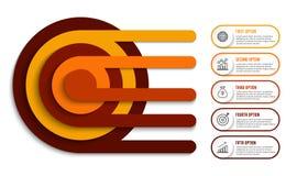 Infographic projekt i marketingowe ikony możemy używać dla obieg układu, diagram, sprawozdanie roczne, sieć projekt Biznesowy con Zdjęcia Royalty Free
