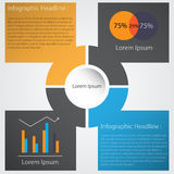 Infographic projekt na popielatym tle WEKTOROWA EPS kartoteka 10 Obrazy Stock