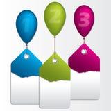 Infographic projekt z etykietkami i ballons Zdjęcia Stock