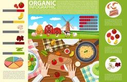 Infographic projekt z karmowym i organicznie gospodarstwem rolnym ilustracji