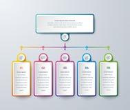 Infographic projekt z nowo?ytnymi kolorami i prostymi ikonami Biznesowy Infographic projekt z proces wyborami lub krokami wektor ilustracja wektor