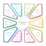 Infographic projekta elementy dla twój biznesowych dane z 10 opcjami Fotografia Royalty Free