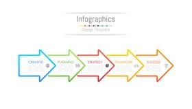 Infographic projekta elementy dla twój biznesowych dane z 5 opcjami Fotografia Royalty Free