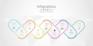 Infographic projekta elementy dla twój biznesowych dane z 9 opcjami Obrazy Royalty Free