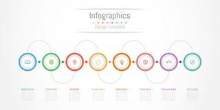 Infographic projekta elementy dla twój biznesowych dane z 8 opcjami Obraz Royalty Free