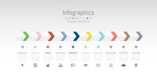 Infographic projekta elementy dla twój biznesowych dane z 10 opcjami Zdjęcia Stock