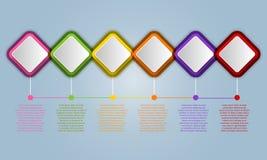 Infographic projekta elementy dla twój biznesu z 6 opcjami, pa ilustracja wektor