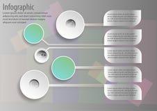 Infographic projekta ilustraci obieg Zdjęcie Royalty Free