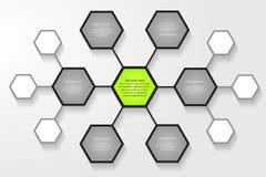 Infographic projekta szablon Obrazy Stock