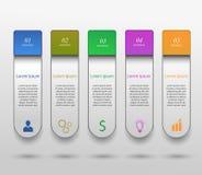 Infographic projekta szablon Zdjęcia Stock