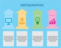 Infographic projekta szablon Zdjęcie Stock