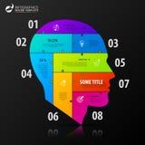 Infographic projekta szablon Biznesowy pojęcie z głową Fotografia Royalty Free