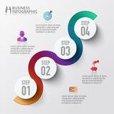 Infographic projekta szablon i marketingowe ikony Zdjęcia Royalty Free
