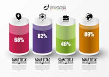Infographic projekta szablon Kolumny i procenty wektor royalty ilustracja