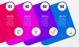 Infographic projekta szablon Kreatywnie pojęcie z 4 krokami Obrazy Royalty Free