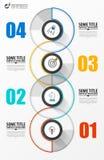 Infographic projekta szablon Kreatywnie pojęcie z 4 krokami fotografia royalty free