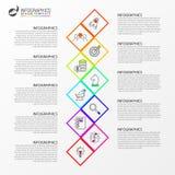 Infographic projekta szablon Kreatywnie pojęcie z 10 krokami zdjęcie stock