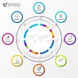 Infographic projekta szablon Kreatywnie pojęcie z 8 krokami obraz royalty free