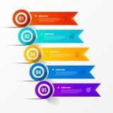 Infographic projekta szablon Kreatywnie pojęcie z 5 krokami fotografia royalty free