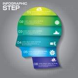 Infographic projekta szablon może używać dla obieg układu, dia Fotografia Royalty Free