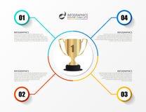 Infographic projekta szablon 3 wymiarowe jaja Trofeum symbol Obraz Royalty Free