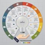 Infographic projekta szablon z biznesowymi pojęcia 10 opcjami i set ikony Obrazy Stock