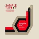 Infographic projekta szablon z graficznymi elementami ustawia ilustrację Wektorowa kartoteka w warstwach dla łatwego edytorstwa Zdjęcie Royalty Free